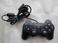 Джойстик  PS2 проводной SONY label, джойстик для PS2 GamePad DualShock Sony PlayStation 2, игровой джойстик