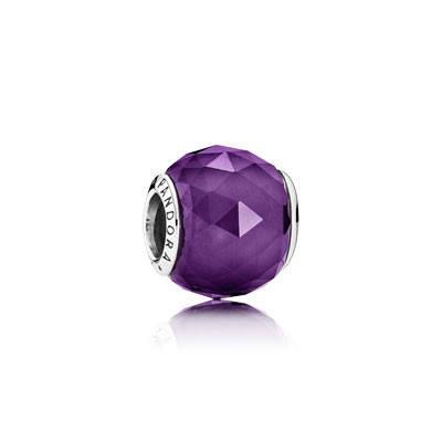 Шарм Ограненный кристалл лилового цвета