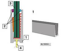 Напольное крепление стекла каленого толщиной 12-21,52мм