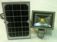 Светодиодный прожектор 10W на солнечной батарее, датчик движения