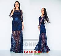 Платье Очарование / гипюр, атлас / Украина, фото 1