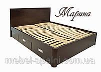 """Кровать двуспальная деревянная с ящиками """"Марина"""" kr.mn6.1"""