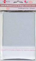 Набор серебристых перламутровых заготовок для открыток, 10см*15см, 250г/м2, 5шт.