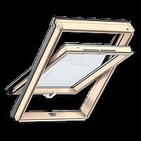 Мансардное окно GLR 3073B, ручка снизу, дерево Однокамерный, 120, Стеклопакет, CR02 55x78 см, Дания, Термостойкость