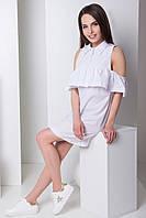 Модное белое платье