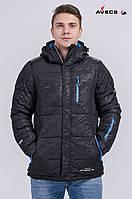Куртка мужская Avecs AV-8069  Black Blue 18# Авекс Размеры S (46) XXL (54)