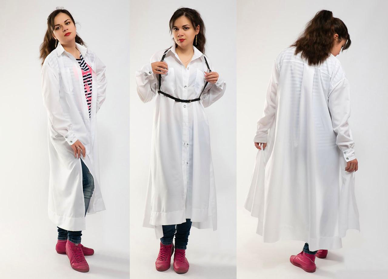 052ba8c9299 Летняя женская длинная туника-рубашка 2-859
