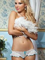Трусики белого цвета с рюшами, фото 1