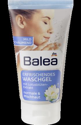 Balea Erfrischendes Waschgel, 150 ml - Освежающий гель для умывания нормальной  и комбинированной кожи, 150 мл