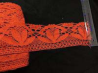 Кружево макраме цвет красный  75 мм N958