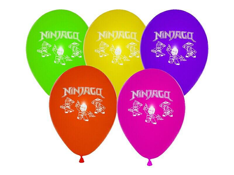 """12""""(30 см) aссорти пастель """"Ninjago"""". В упак: 50 шт."""