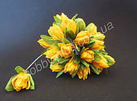 Тюльпан на проволочке, d 2 см, желтого цвета