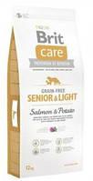 Brit Care Senior Salmon & Potato Корм для стареющих собак всех пород с избыточным веом(лосось и картофель) 3кг