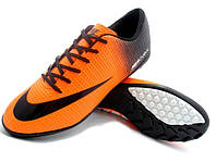 Футбольные сороконожки Nike Mercurial Victory Turf Orange/Black/White, фото 1