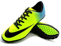 Футбольные сороконожки Nike Mercurial Victory Turf Yellow/Blue/Black, фото 1