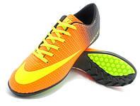 Детские футбольные сороконожки Nike Mercurial Victory Turf Orange/Yellow/Black