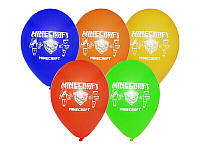"""Воздушные шары """"Minecraft"""" 12""""(30 см) aссорти пастель. В упак: 50 шт."""