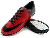 Детсткие футбольные сороконожки Nike Mercurial Victory Turf Red/Black/White, фото 1