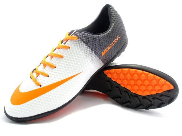 Футбольные сороконожки Nike Mercurial Victory Turf White/Orange/Black
