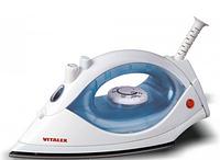 Утюг электрический дорожный Vitalex VT-1006, электрический утюг с подачей пара, компактный дорожный утюг