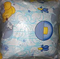 Детская подушка для сна пух-перо 40х40 см