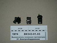 Выключатель (клавиша) противотуманных фар (Автоарматура, С-Пб), ВК343-01.03