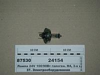 Лампа 24V 100/90Вт галоген. Н4, 3-х штыр. P45t (ДИАЛУЧ), 24154