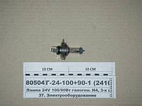 Лампа 24V 100/90Вт галоген. Н4, 3-х штырев. P43t (ДИАЛУЧ), АКГ-24-100+90-1(24104)