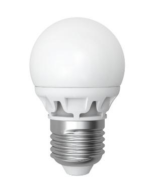 Светодиодная лампа Electrum A-LB-0944 D45 4W E27 2700K шарик матовый LB-9 Код.56857