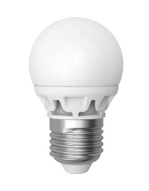 Светодиодная лампа Electrum A-LB-0944 D45 4W E27 2700K шарик матовый LB-9 Код.56857, фото 2
