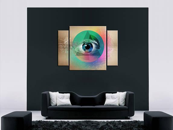 """Модульная картина """"Всевидящее око"""", фото 2"""