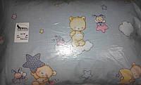 Детская подушка для сна пух-перо 40х60 см