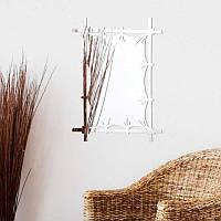 Настенное зеркало Бамбуковый холст