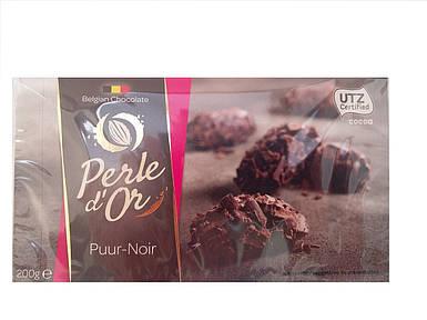 Конфеты бельгийский трюфель из черного шоколада Perle d'Or, 200г