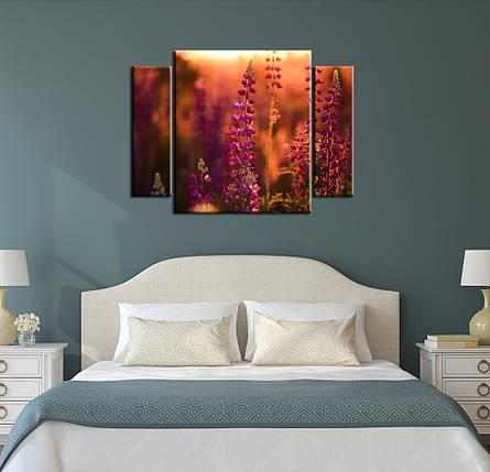 "Модульная картина ""Цветы на закате"", фото 2"