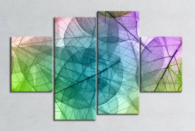 """Модульная картина  """"Листья"""", фото 2"""