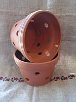 """Кашпо для орхидей """"Стандартное из красной глины"""" 10см"""
