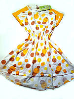 Летнее платье в горошек