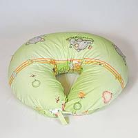 Подушка для кормления, бязь. Добрый слон на траве