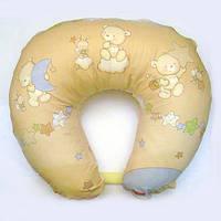 Подушка для кормления, бязь. Лунный мишка, бежевый