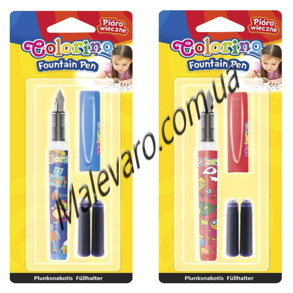 Ручка перьевая в блистер-упаковке со сменными картриджами