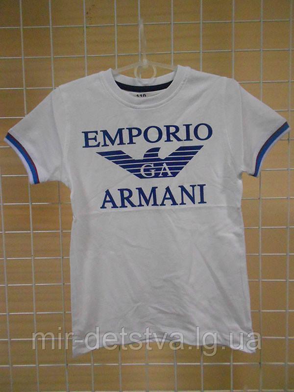 """Брэндовые футболки для мальчиков """"Армани-3"""" ТМ Wanex, Турция р.86-116см"""