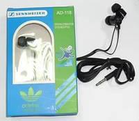 Наушники Adidas AD-188, вакуумные наушники Sennheiser, универсальные наушники для телефона разные цвета