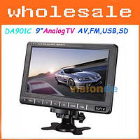 Портативный телевизор DA-901C экран 9 дюймов, телевизор для автомобиля, портативный телевизор в машину