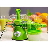 Соковыжималка шнековая (ручная) Juice Wizard, соковыжималка универсальная, ручная соковыжималка