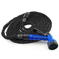 Шланг для полива X Hose Pro с пластиковыми соединителями (30 м) черный, поливочный шланг распрыскиватель