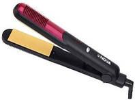 Плойка для выпрямления волос Nova NHC-473CRM с узкими керамическими пластинами (тефлоновое покрытие,4 режима)