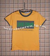 Високоякісні футболки для хлопчиків ТМ Wanex, Туреччина р. 92-122см гірчиця, синій