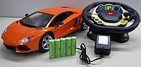 """Машинка """"Lamborghini"""" на радиоуправлении, машина с пультом управления в виде руля, машина игрушечная на пульте"""