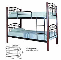 Кровать двухъярусная металлическая Элизабет